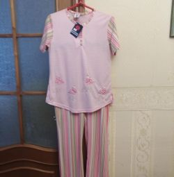 Turkish pajamas cotton with viscose