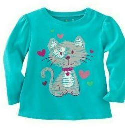 Nou bluză pentru o fată de 5 ani
