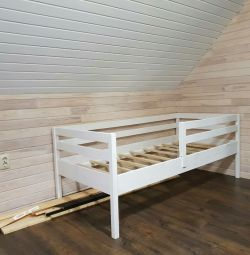 Bed made of solid wood