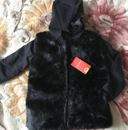 Children's fur jacket, jacket new