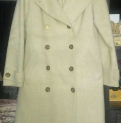 Draped double-breasted coat warm r. 44-46