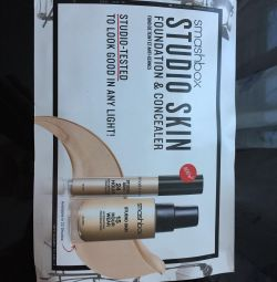 Tonal foundations and Smashbox Concealers