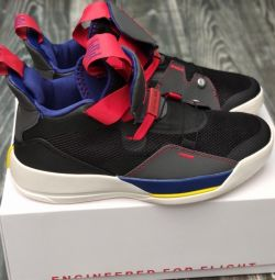 Nike Air Jordan 33 μαύρα πάνινα παπούτσια