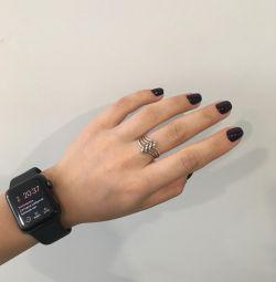 Ασημένιο δαχτυλίδι, μενταγιόν, αλυσίδα