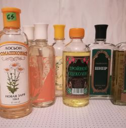 Lotions, colognes