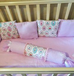 Cushion sides + sheet on elastic under the order
