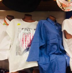 Linen blouses and T-shirts