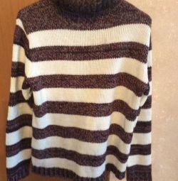Новый мужской свитер, шерсть 100%, Турция