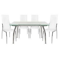SET TABLES 5TMX TABLE LOCA 120X80-KIM WHITE