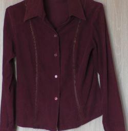 Рубашка вельветовая, р-44(46)