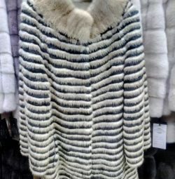Mink coat on cashmere