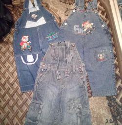 джинсові напівкомбінезони