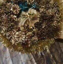 Hand wreath Christmas wreath