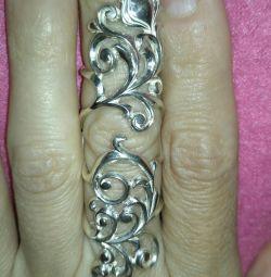 Yüzük Yakut Gümüş 925