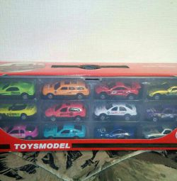 Set of cars in a suitcase