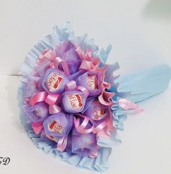 Sweet bouquet with Raffaello sweets