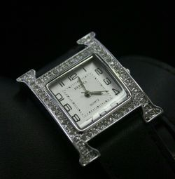 Ladies watches hermes with double strap