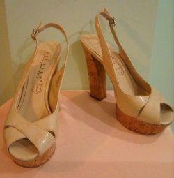 Sandale din piele Blossem, râu 38,5