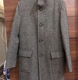 Ανδρικό χειμωνιάτικο παλτό, φυσικό μαλλί