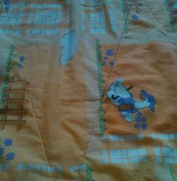 Одеялко теплое детское 100*130