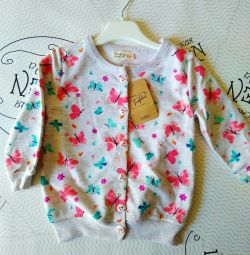 Children's sweater with buttons
