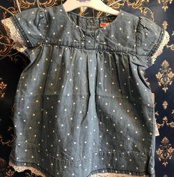 Nou sarafan tunică rochie de denim