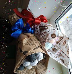 Bouquet of socks. Gift for February 23