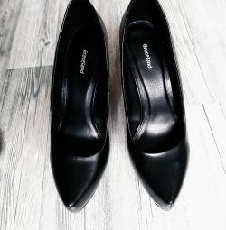 Shoes made of genuine leather.