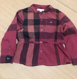 Çocuk gömleği Burberry çocuk orijinali