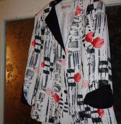 Пиджак нарядный р 56
