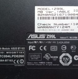 Notebook ASUS Z99L FOR SPARE PARTS.