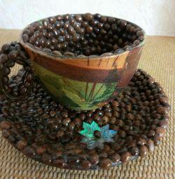 Mug + saucer (coffee)