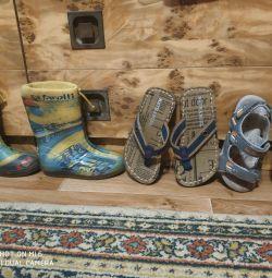 Καουτσούκ μπότες, παντόφλες, σανδάλια