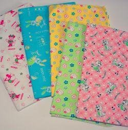 New Diaper chintz, flannel, knitwear