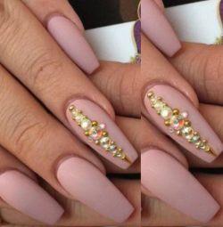 Nail extension form 'ballerina' in Khimki
