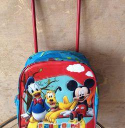 Children's bag on wheels (backpack)