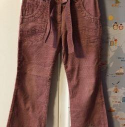 Pantaloni Corduroy
