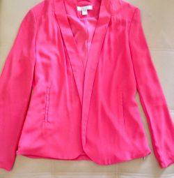 Jacket color coral size 40-42-44
