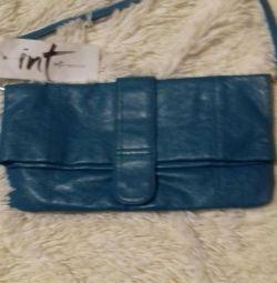 Νέα τσάντα βράδυ από γνήσιο δέρμα.