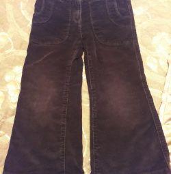 Corduroy pants for girls