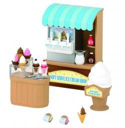 Setați un magazin de înghețată pentru familii din Sylvanian