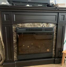 Fireplace. Heater.