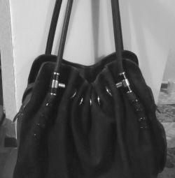 Τσάντα από τεχνητό σουέτ.