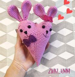 Tavşan aşk kalp el yapımı