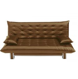 Sofa bed Polo Style eco leather sunny hazel