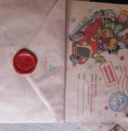 Noel Baba'dan bir disk ile mektup