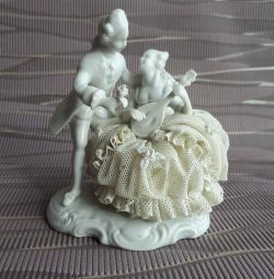 Figurine lace china GDR