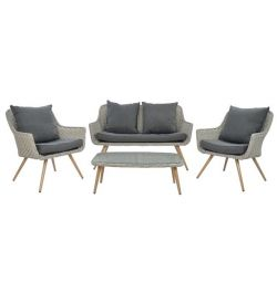 LIVING ROOM SET 4MP METAL GRAY HM5280