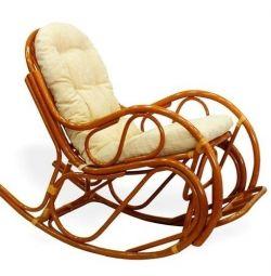 Κουνιστή καρέκλα μπαστούνι με υποπόδιο