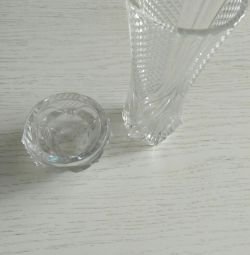 Vase from crystal and candlestick